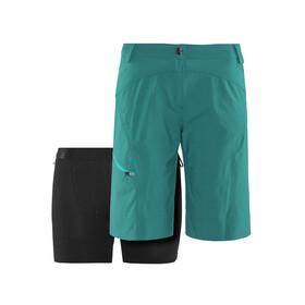 Löffler Comfort CSL fietsbroek kort Dames groen/petrol